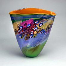 Lime Blue Colorfield Vase